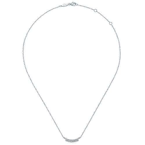 14k White Gold Indulgence Bar Necklace angle 2