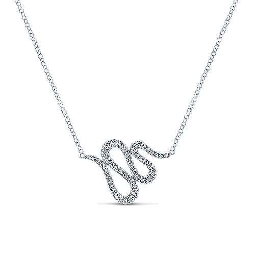 14k White Gold Indulgence Fashion Necklace angle 1