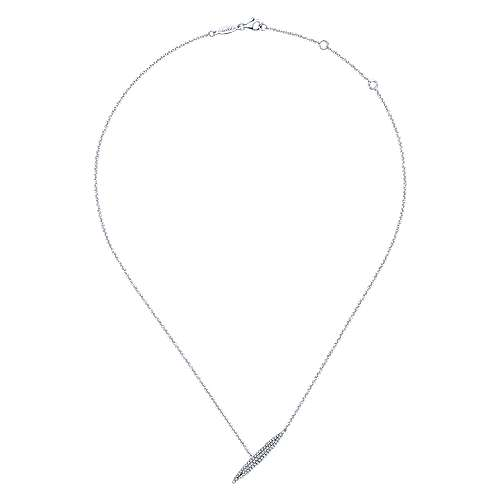 14k White Gold Indulgence Fashion Necklace angle 2
