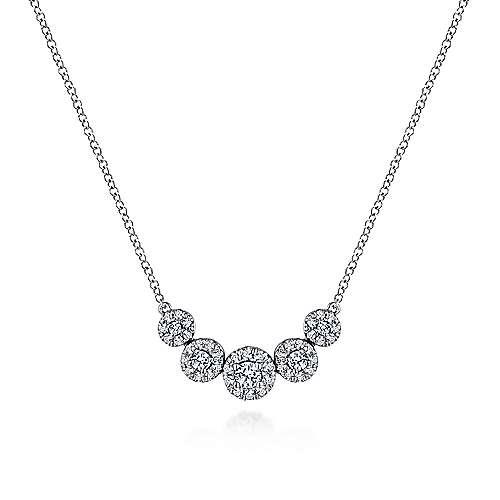 14k White Gold Indulgence Fashion Necklace angle 1