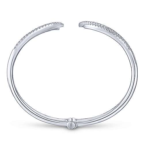 14k White Gold Kaslique Bangle angle 3