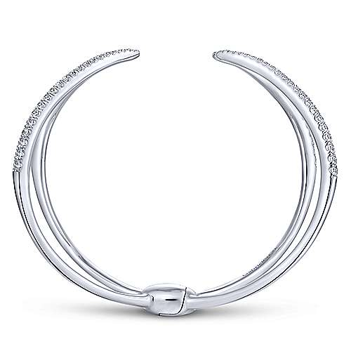 14k White Gold Kaslique Bangle