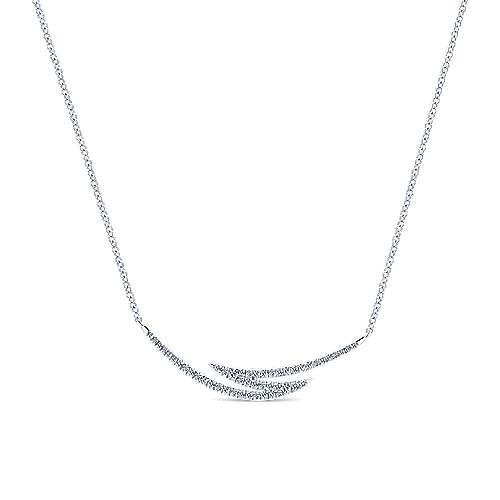 14k White Gold Kaslique Bar Necklace