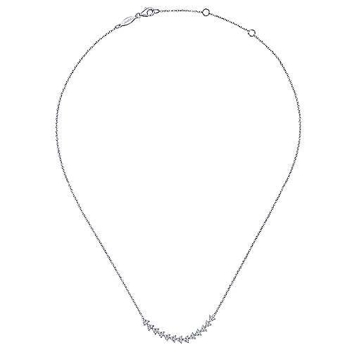 14k White Gold Kaslique Bar Necklace angle 2
