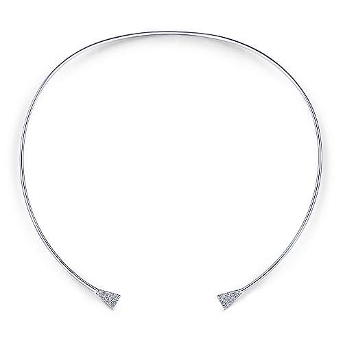 14k White Gold Kaslique Choker Necklace angle 1