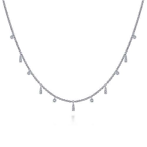 14k White Gold Kaslique Choker Necklace angle 1
