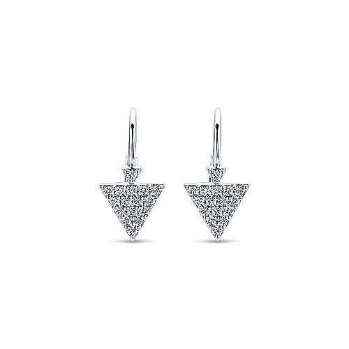 14k White Gold Kaslique Drop Earrings