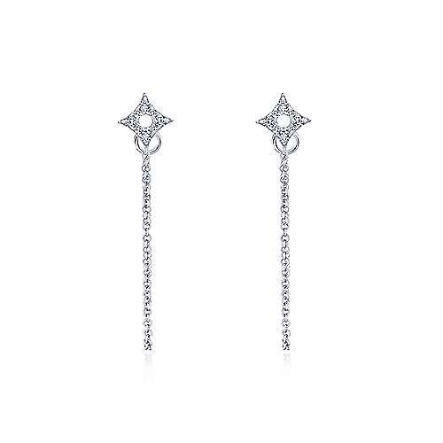 14k White Gold Kaslique Drop Earrings