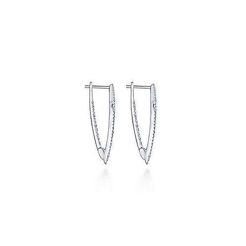 14k White Gold Kaslique Drop Earrings angle 3