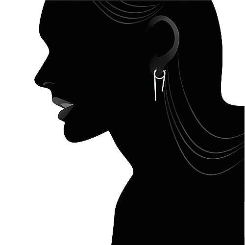 14k White Gold Kaslique Drop Earrings angle 5