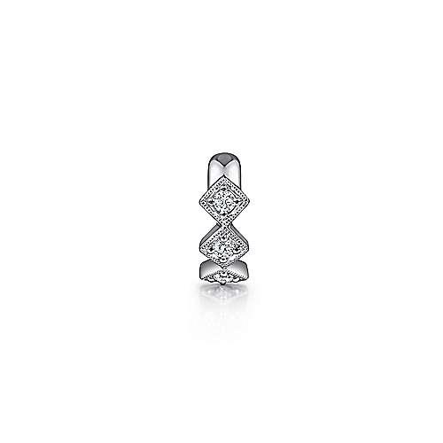 14k White Gold Kaslique Earcuffs Earrings angle 1