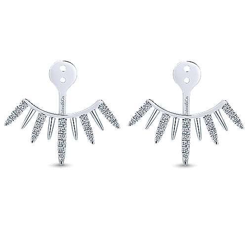 14k White Gold Kaslique Enhancer Earrings angle 1