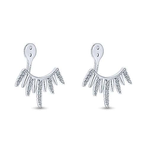 14k White Gold Kaslique Enhancer Earrings angle 2