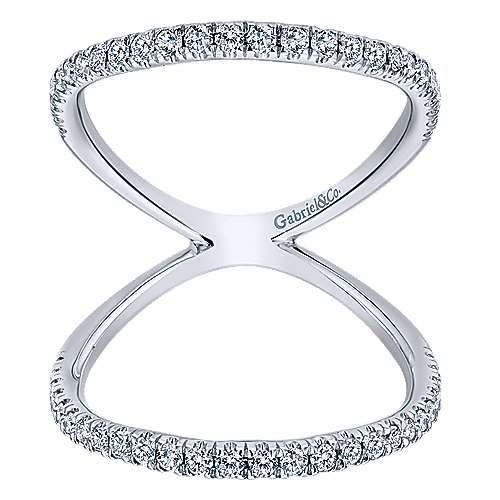14k White Gold Kaslique Fashion Ladies' Ring angle 5