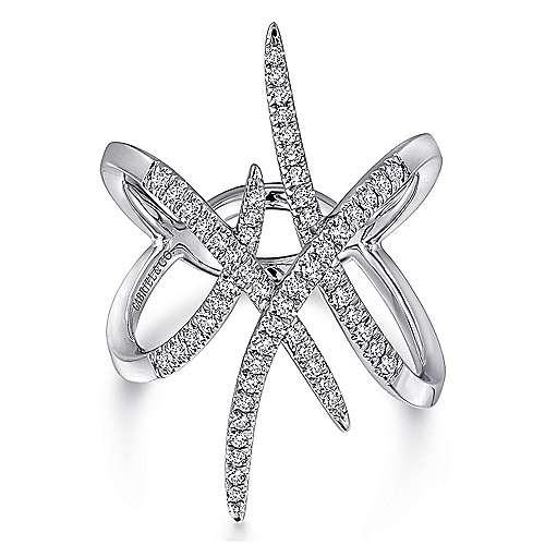 Gabriel - 14k White Gold Kaslique Fashion Ladies' Ring