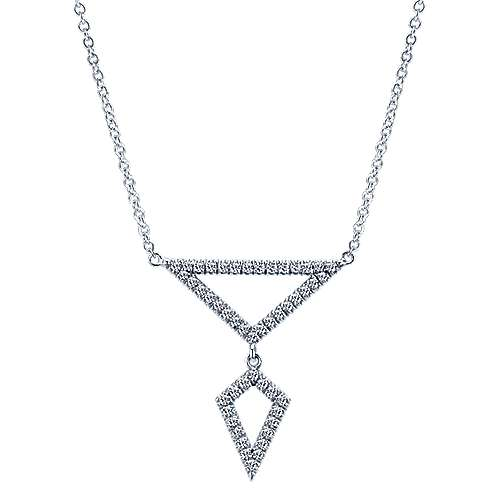 14k White Gold Kaslique Fashion Necklace angle 1