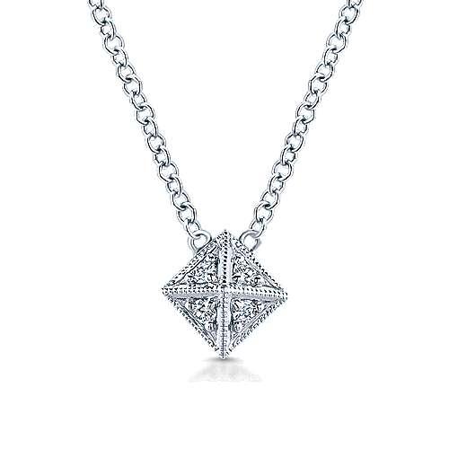 14k White Gold Kaslique Fashion Necklace angle 1