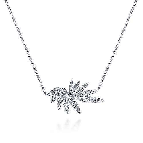 14k White Gold Kaslique Fashion Necklace