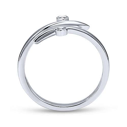 14k White Gold Kaslique Midi Ladies' Ring angle 2