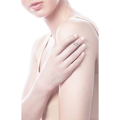 14k White Gold Kaslique Midi Ladies' Ring angle 5