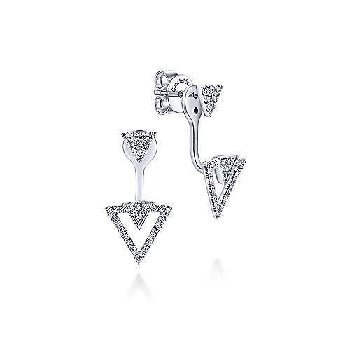 14k White Gold Kaslique Peek A Boo Earrings
