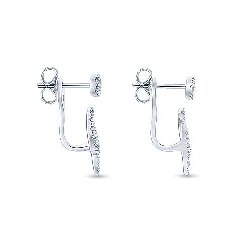 14k White Gold Kaslique Peek A Boo Earrings angle 3