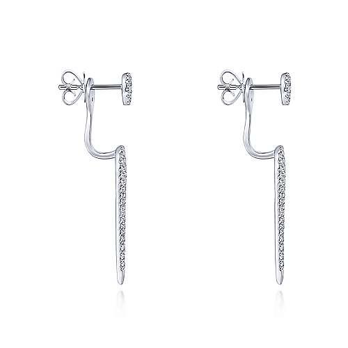 14k White Gold Kaslique Peek A Boo Earrings angle 3