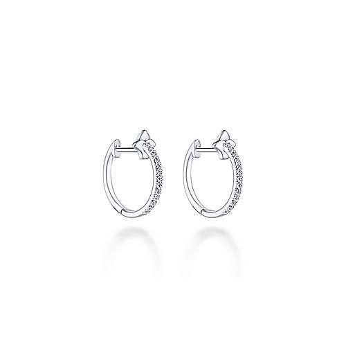 14k White Gold Kaslique Stuggies Earrings
