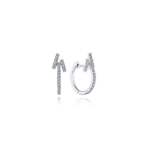 14k White Gold Kaslique Stuggies Earrings angle 1