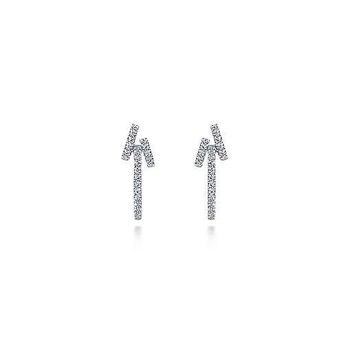 14k White Gold Kaslique Stuggies Earrings angle 3