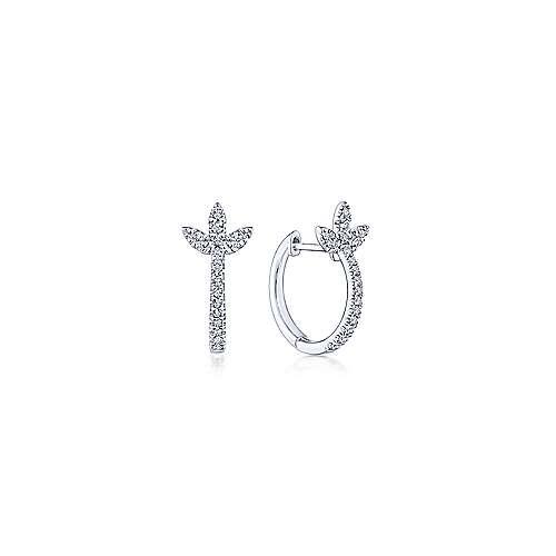 Gabriel - 14k White Gold Kaslique Stuggies Earrings