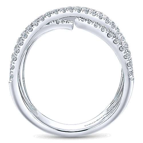 14k White Gold Kaslique Wide Band Ladies
