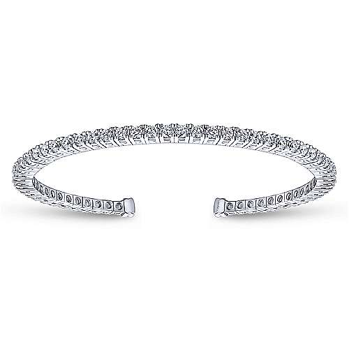 Gabriel - 14k White Gold Lusso Bangle