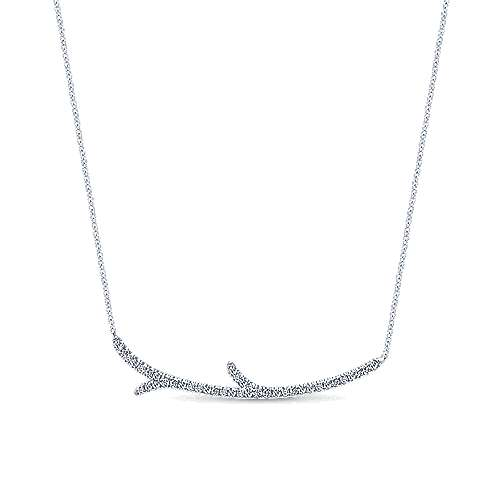 Gabriel - 14k White Gold Lusso Bar Necklace