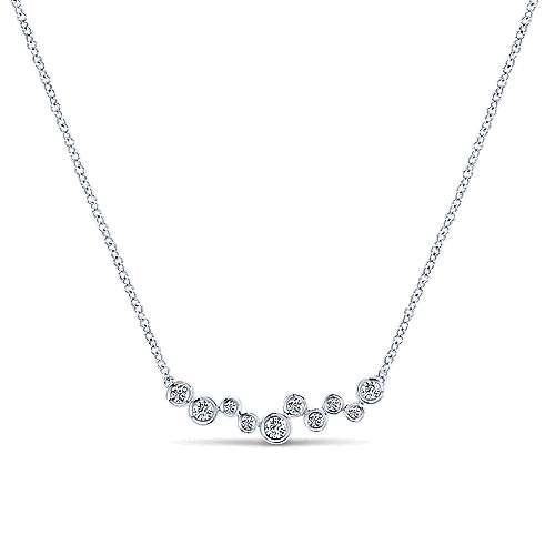 Gabriel - 14k White Gold Lusso Bar Necklace