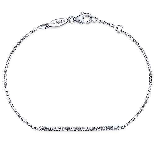 14k White Gold Lusso Chain Bracelet angle 1
