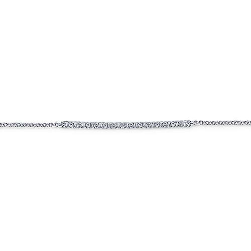 14k White Gold Lusso Chain Bracelet angle 2