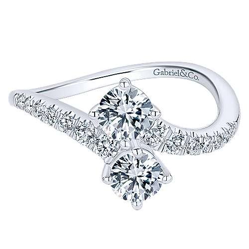 Gabriel - 14k White Gold Lusso Classic Ladies' Ring