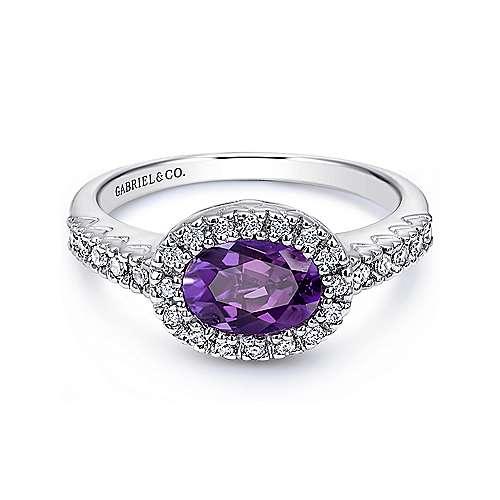 Gabriel - 14k White Gold Lusso Color Classic Ladies' Ring