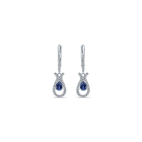 Gabriel - 14k White Gold Lusso Color Drop Earrings