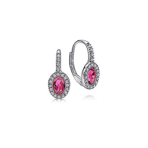 14k White Gold Lusso Color Drop Earrings