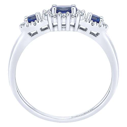 14k White Gold Lusso Color Fashion Ladies