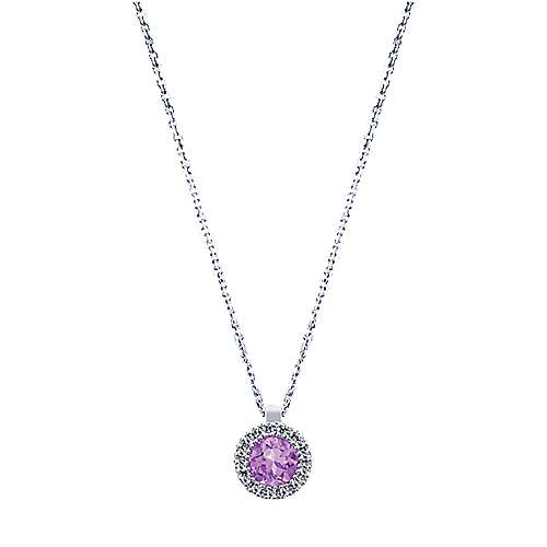 14k White Gold Lusso Color Fashion Necklace