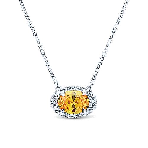 14k White Gold Lusso Color Fashion Necklace