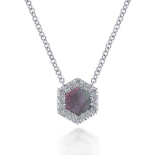 14k White Gold Lusso Color Fashion Necklace angle 1