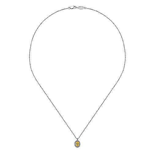 14k White Gold Lusso Color Fashion Necklace angle 2