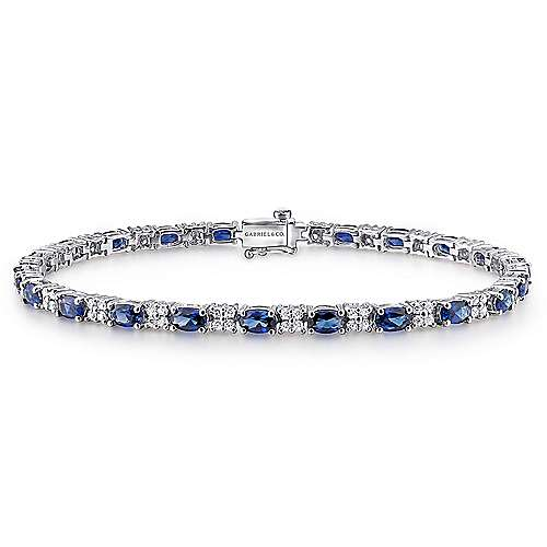 14k White Gold Lusso Color Tennis Bracelet