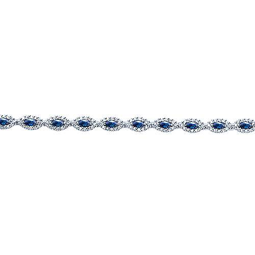 14k White Gold Lusso Color Tennis Bracelet angle 2