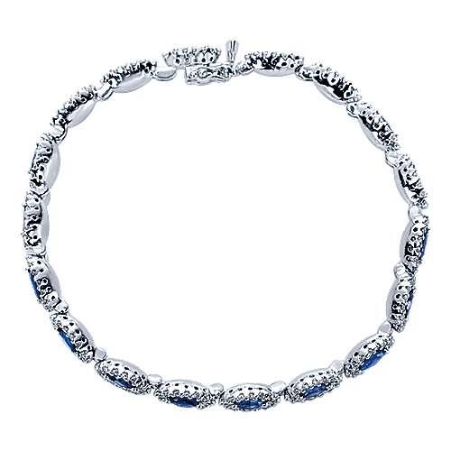 Gabriel - 14k White Gold Lusso Color Tennis Bracelet