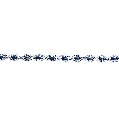 14k White Gold Lusso Color Tennis Bracelet angle 2